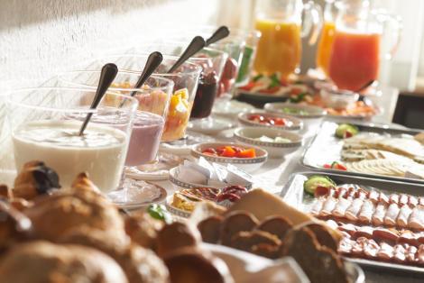Reiche Auswahl an unserem Frühstücksbuffet